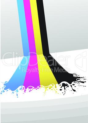 cyan, magenta, yellow und black