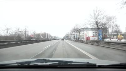 Autofahrt Zeitraffer