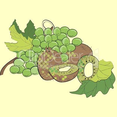 Grapes and kiwi