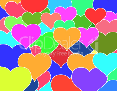 Solid color hearts texture