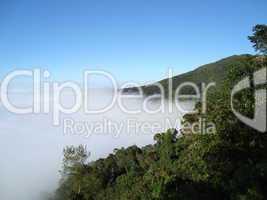 Aussicht vom Berg El Avila in Venezeula