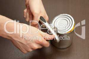 Process of opening the can