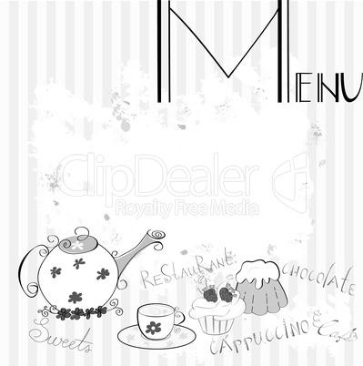 Stylized menu