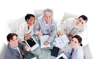 Successful multi-ethnic business team with in a meeting