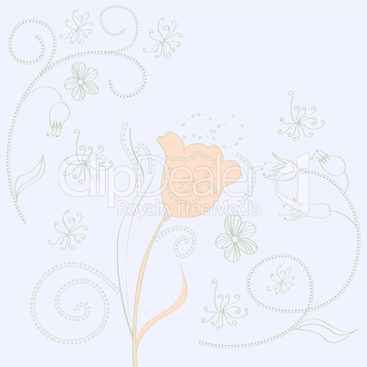 Spring decorative background