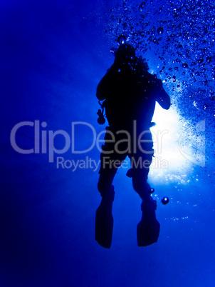 Tauchersilhouette, Silhouette of a diver
