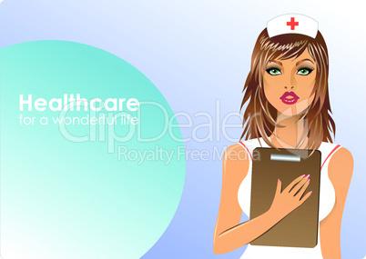 Krankenschwester mit Klemmbrett