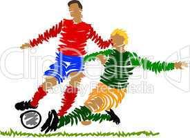fussballspieler abstrakt