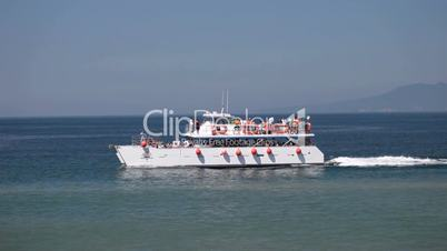 Boat tourist Puerto Vallarta Mexico
