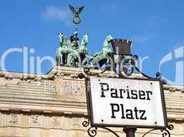 Schild Pariser Platz