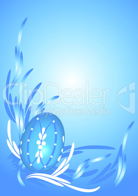 Osterei in blau - Blue Easter egg