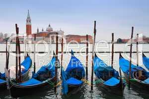 Italy, Venice: gondolas