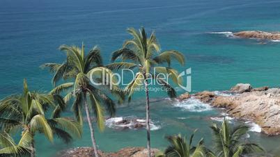 Tropical coast pacific ocean Mexico