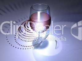 Abstrakt - Rotwein - Glas