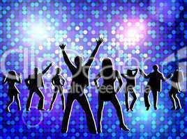Disco - tanzende Gruppe
