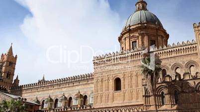 Sequence of italian cathedral, palermo, sicily, italy