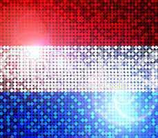 glitzernde pailetten flagge Holland