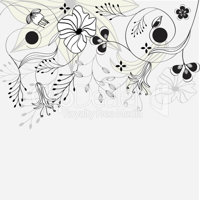 Card with floral elements