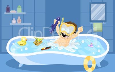 Bathtub Diving