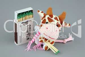 Cow with matches