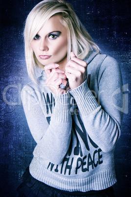 Beautiful woman in jumper