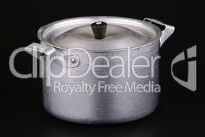 Old aluminium pan