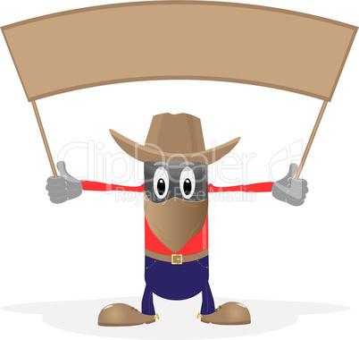 Cowboy and header