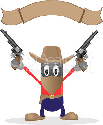 Cowboy and revolvers