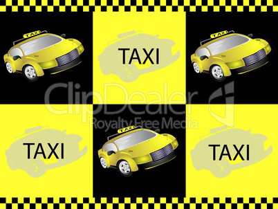 Taxi and sign