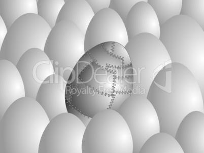 Steel egg.