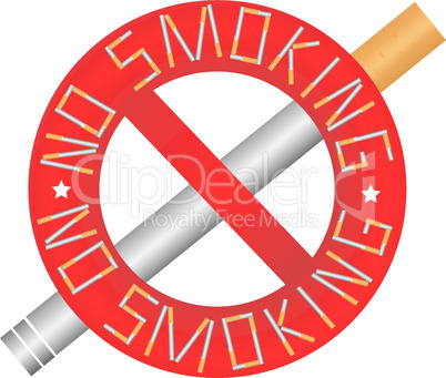 Sign - No smoking.