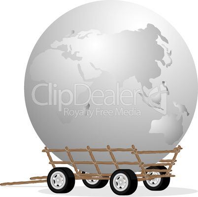 The globe in cart