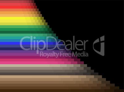 Horizontal color lines