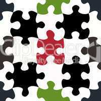 contrasty jigsaw pieces pattern