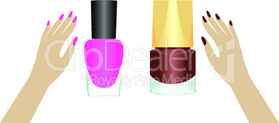 Two nail polishes