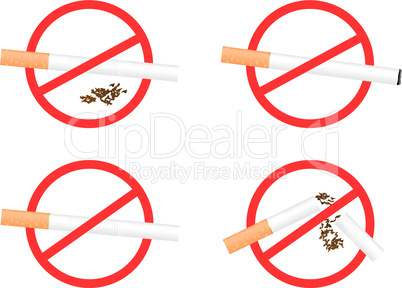 "Set sign ""No Smoking"""