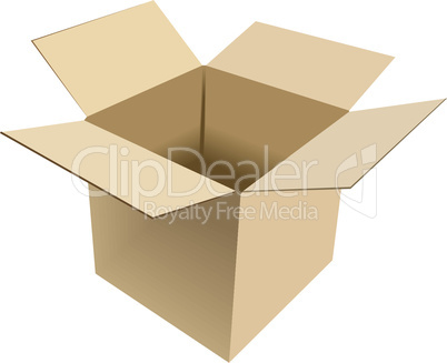 Realistic illustration of box