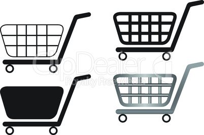 Illustration of shopping carts