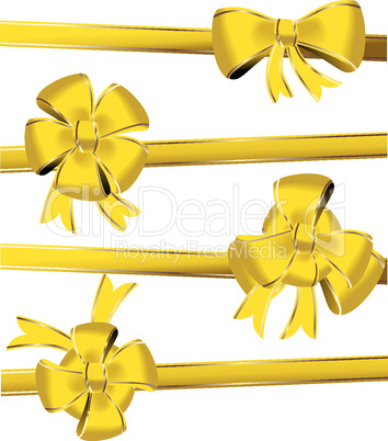 Celebration bows decoration