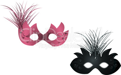 Realistic illustration of carnival masks