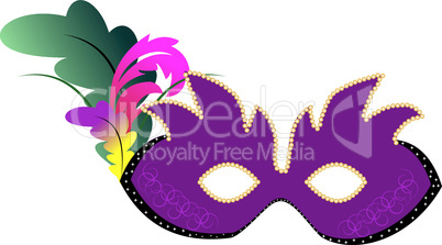 Realistic illustration carnival mask with diamonds