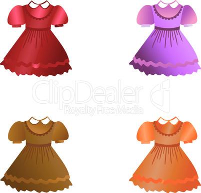 Set of children dresses