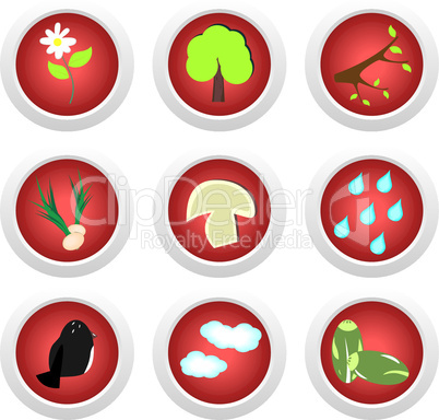 Eco icon set on white background