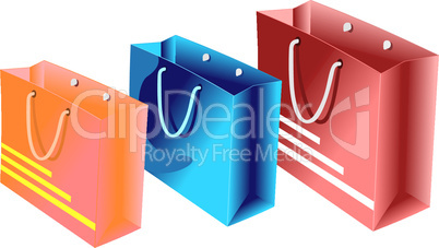Realistic illustration of packet for shopping
