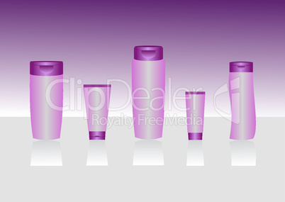 Cosmetic container templates for designers