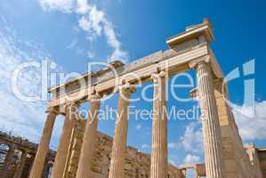 Erechtheion temple on acropolis, Athens, Greece