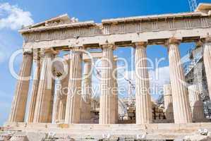 The Temple of Athena at the Acropolis, Greece, Parthenon