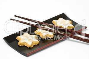 Zimtsterne, star-shaped cinnamon biscuit