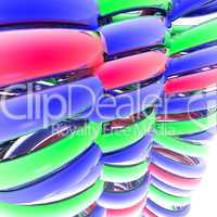 colorful abstract 3d spiral computer render
