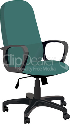 Realistic illustration office armchair